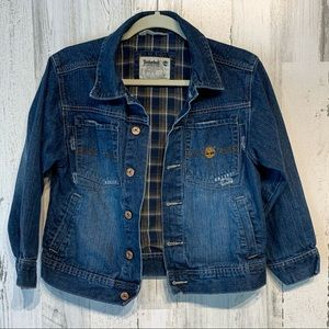Timberland Denim Lined Button Up Jacket Size Small